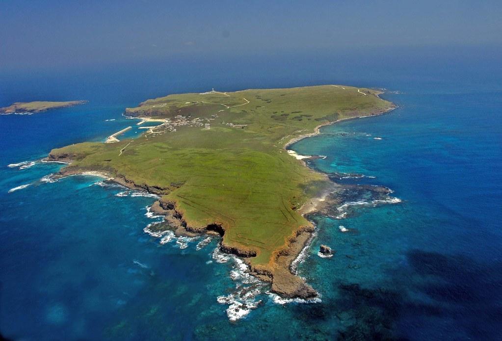 澎湖南方四島東吉嶼之空照圖。照片提供:營建署海洋國家公園管理處