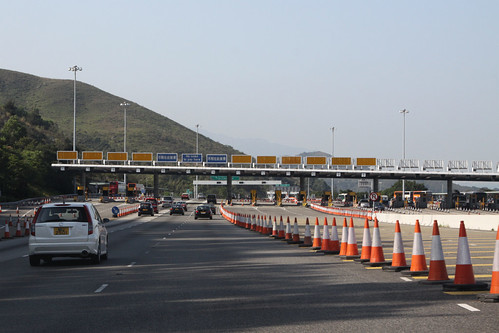 Westbound toll plaza for the North Lantau Highway