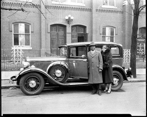 Dr. and Mrs. E.C. Smith w car | by Black History Album