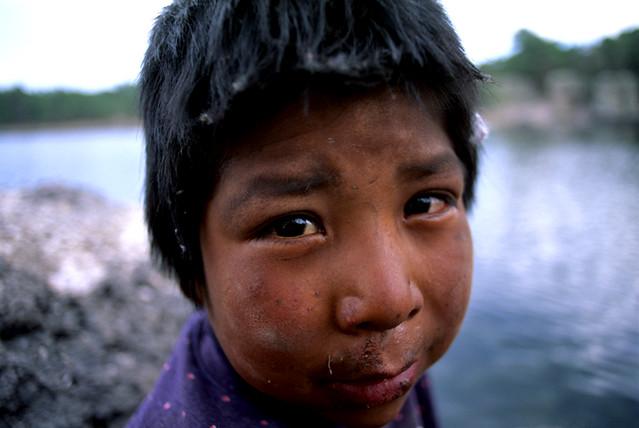 Indian child, around Creel, Canon del cobre, north Mexico.