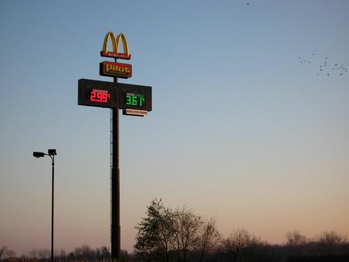 thanksgiving sign sunrise michigan roadtrip mcdonalds pilot