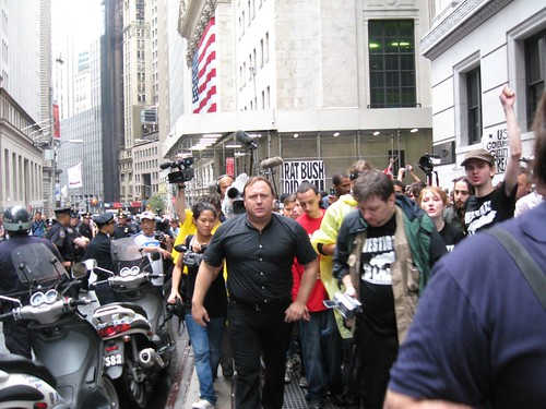 Alex Jones in downtown N.Y. | by 911conspiracy