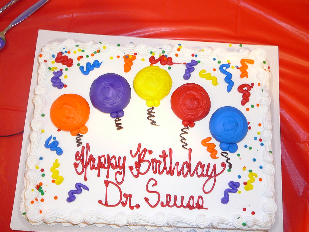 Phenomenal Dr Seuss Birthday Cake At The Vineland Library Branch V Flickr Funny Birthday Cards Online Inifofree Goldxyz