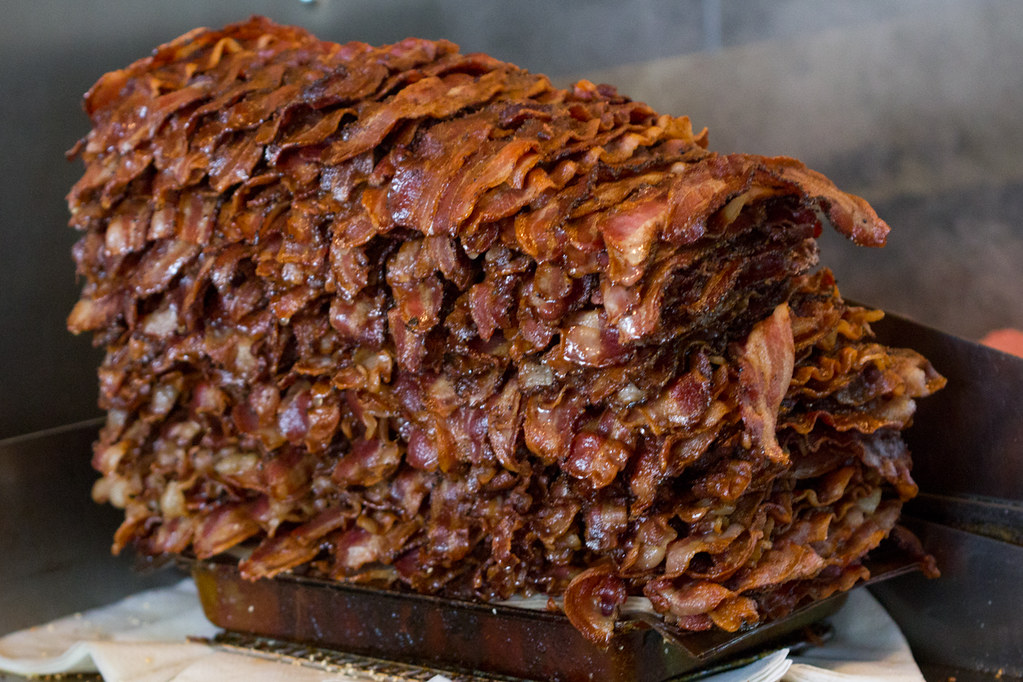 Red Mill Burgers Bacon stack   Stack of bacon at Red Mill Bu…   Flickr