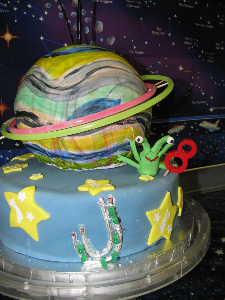 Magnificent Alien Planet Cake 8Th Birthday Cake At The Sacramento Spac Flickr Personalised Birthday Cards Cominlily Jamesorg