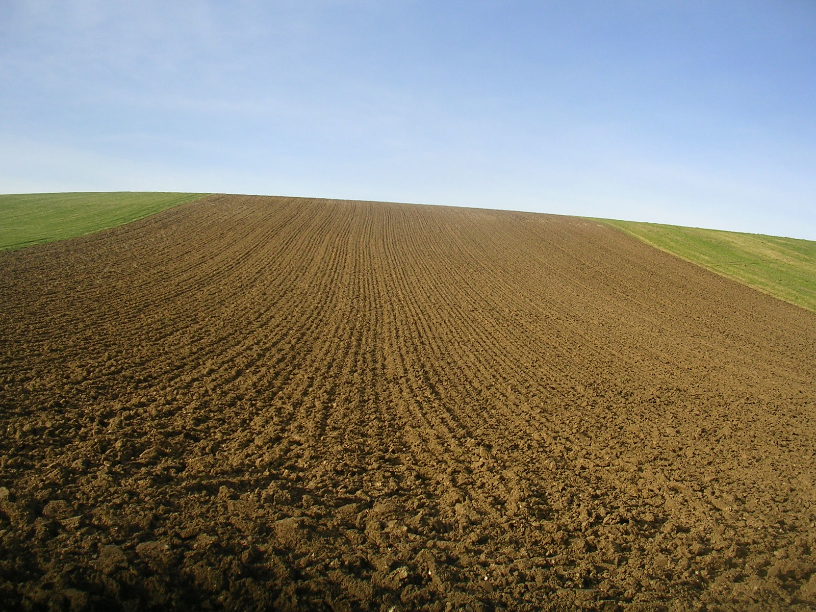 ploughed slope Lewes to Saltdean via Rodmell.