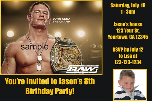 graphic relating to Wwe Birthday Invitations Printable Free referred to as Customized WWE Wrestling Invites- Personalized printable