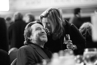 John Perry Barlow and Lisa Goldman | by Joi