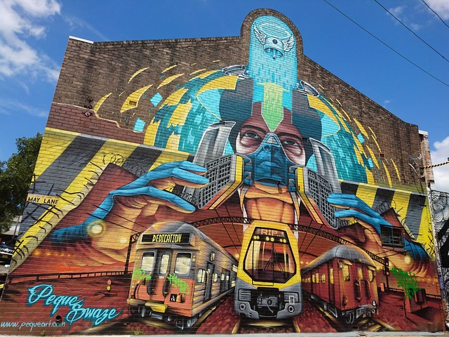Train StreetArt stpeters sydney streetart mural by peque_vrs
