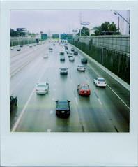 Freeway in the rain