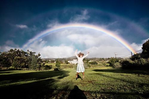 travel sky home field landscape hawaii jumping rainbow maui pasture emilydavis upcountry makawao