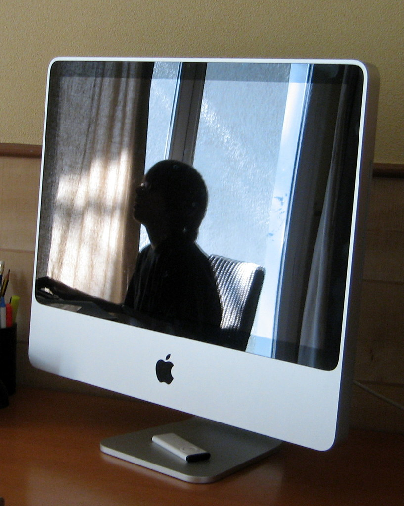 portrait au Mac