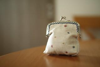My wife's handmade money bag. | by MIKI Yoshihito. (#mikiyoshihito)