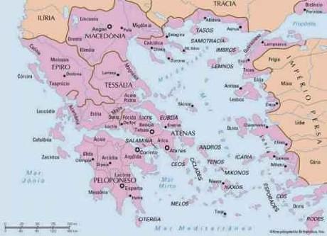 Mapa Da Grecia Antiga Historia Flickr