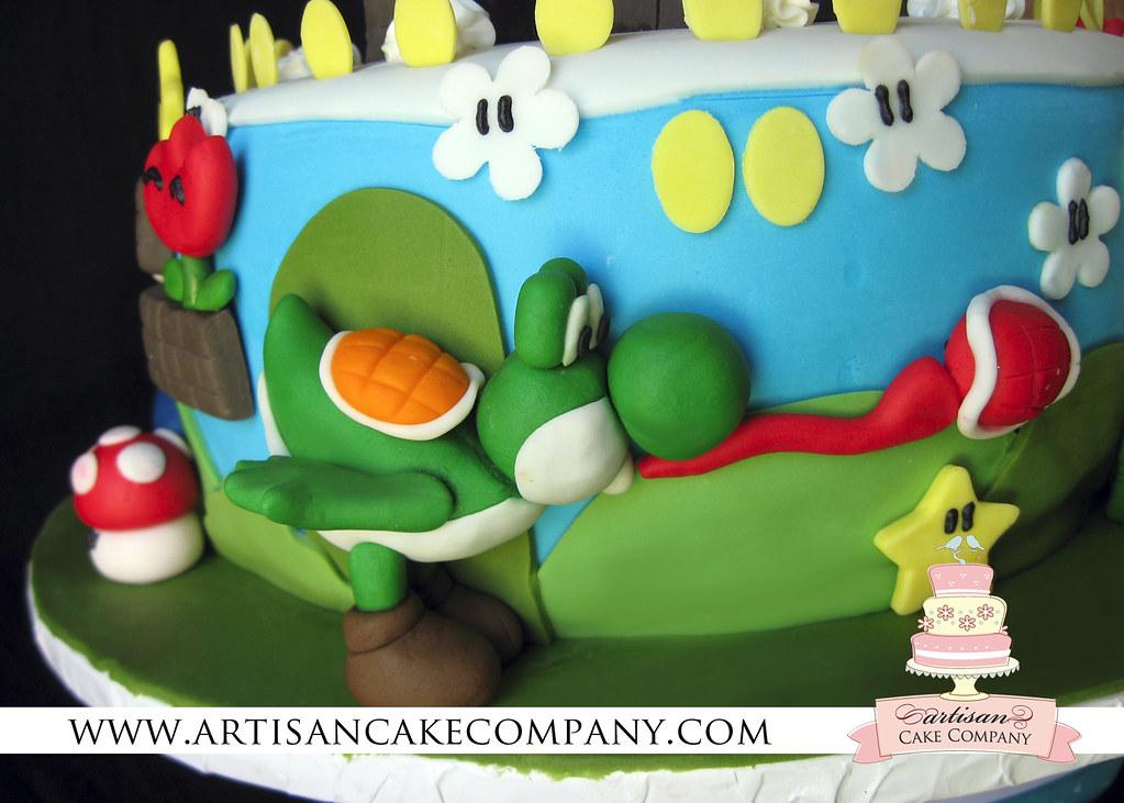 Marvelous Super Mario Brothers Birthday Cake Artisancakecompany Flickr Personalised Birthday Cards Akebfashionlily Jamesorg