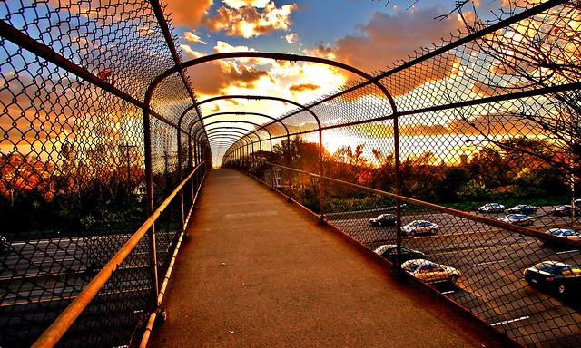 I-94 Pedestrian Bridge at Sunset