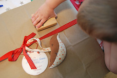 stamping the packages | by SouleMama