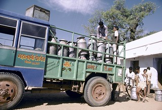 Vehicle carrying milk   by World Bank Photo Collection