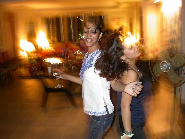Hana and Eeshita dancing