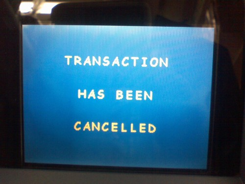Transaction Has Been Canceled (;_;) | by Consumerist Dot Com