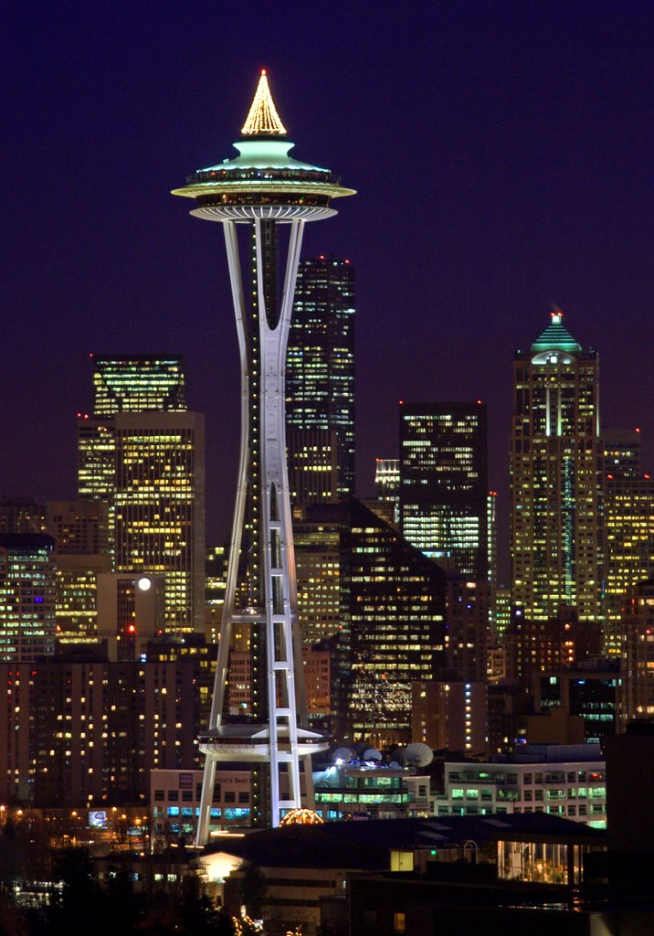 The Space Needle At Christmas The Space Needle Is A
