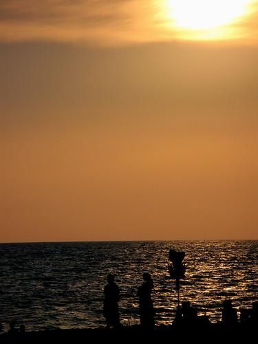 sunset sky nature trivandrum shangumughambeach canonpowershotg7 saifudeen