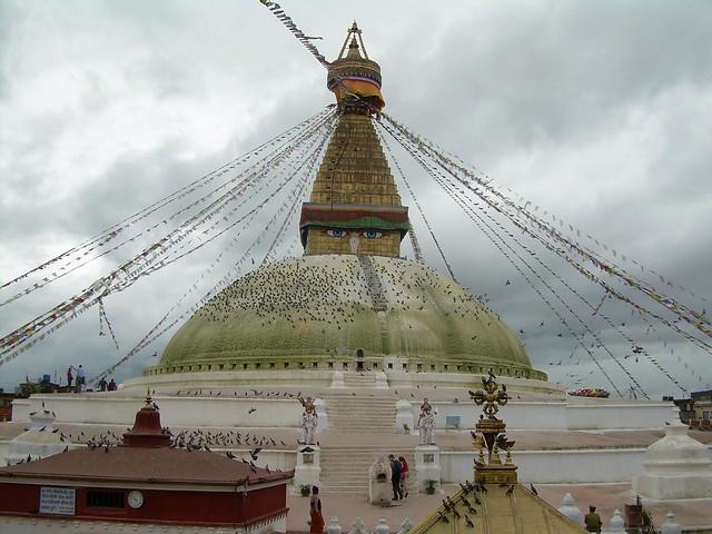 La estupa de Bodnath en Kathmandú