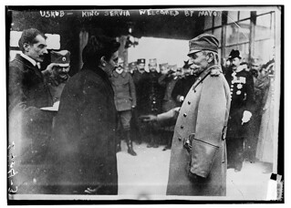 Uskub - King Servia - Welcomed by mayor  (LOC)