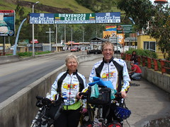Nancy and Randy at the Ecuador border
