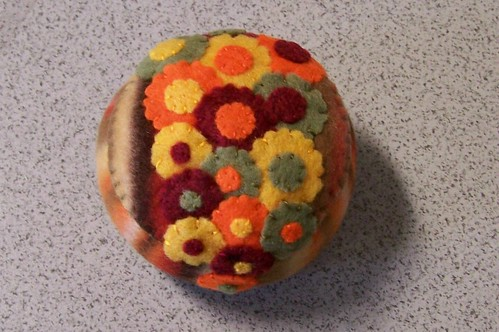 fall flower pincushion | by createitcottage