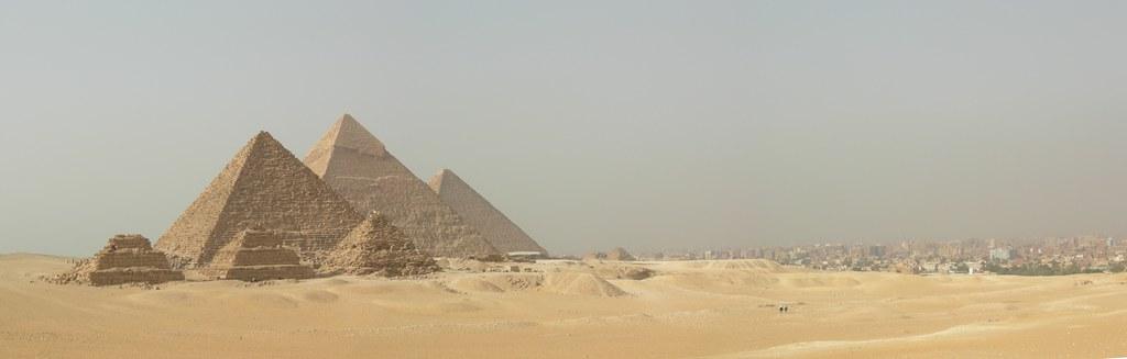 Pyramids And City