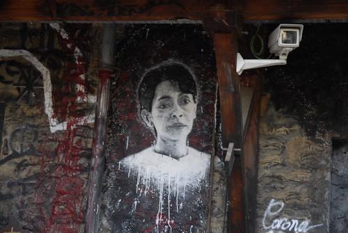 Aung San Suu kyi, painted portrait _DDC4616