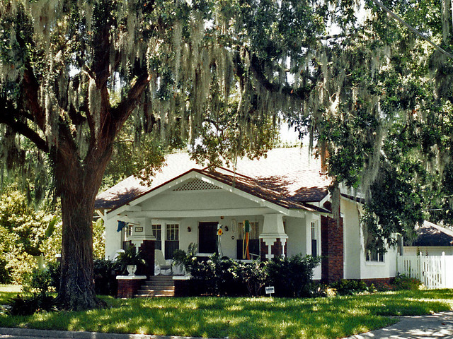 House And Tree Draped With Spanish Moss Sanford Florida Flickr