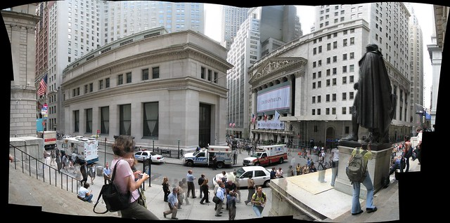 Wall Street Historic District Panorama