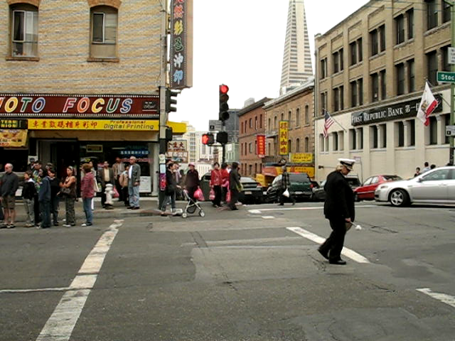 Chinatown funeral march, San Francisco