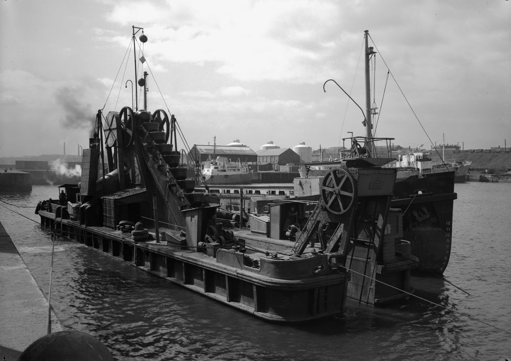 A dredger at the South Docks, Sunderland