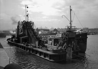 A dredger at the South Docks, Sunderland