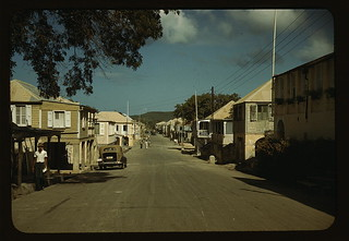 Street in a town [Frederiksted, St. Croix], in the Virgin Islands  (LOC) | by The Library of Congress