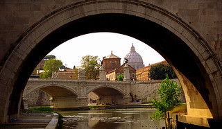 Rome - St. Peter's Basilica from St. Angelo Bridge | by David Paul Ohmer