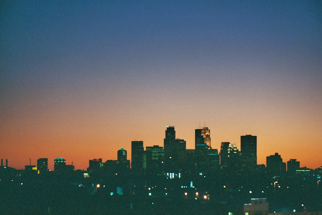 Sunset downtown Minneapolis
