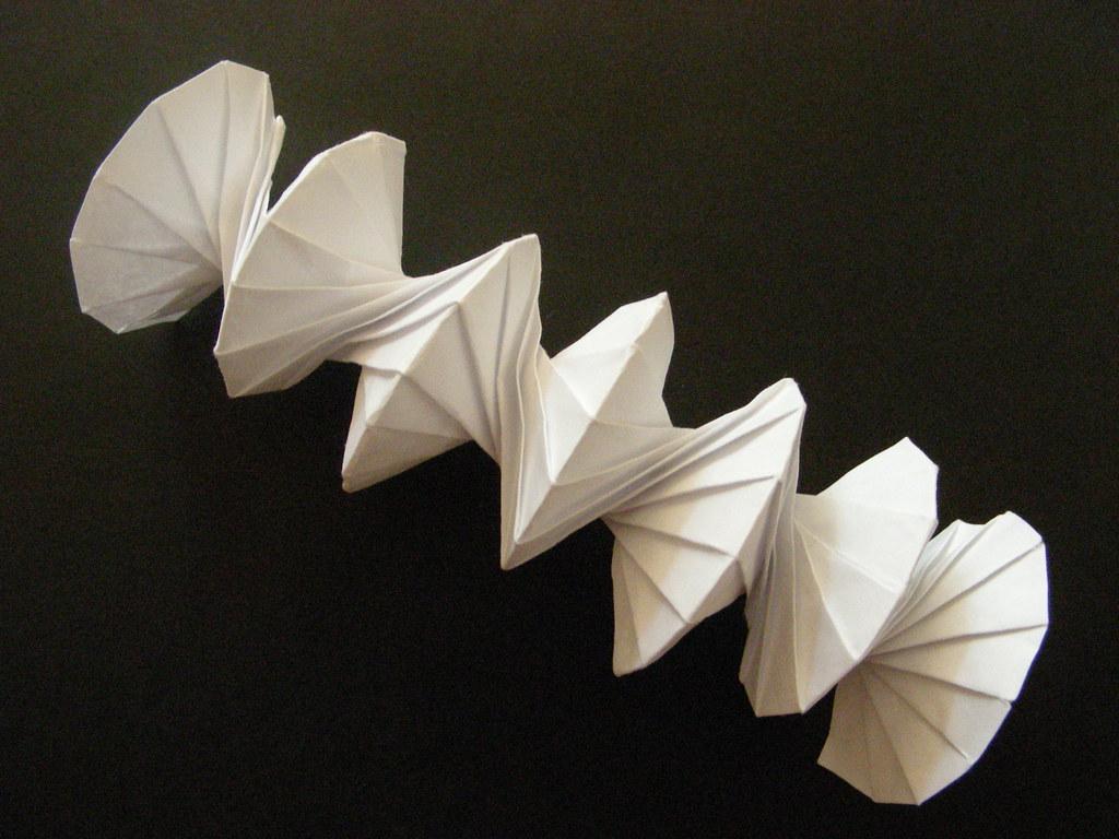 Origami Spiral Spring Into Action Orgiami Design By Jef