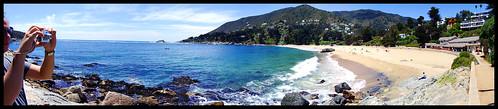 chile panorama beach pano playa zapallar