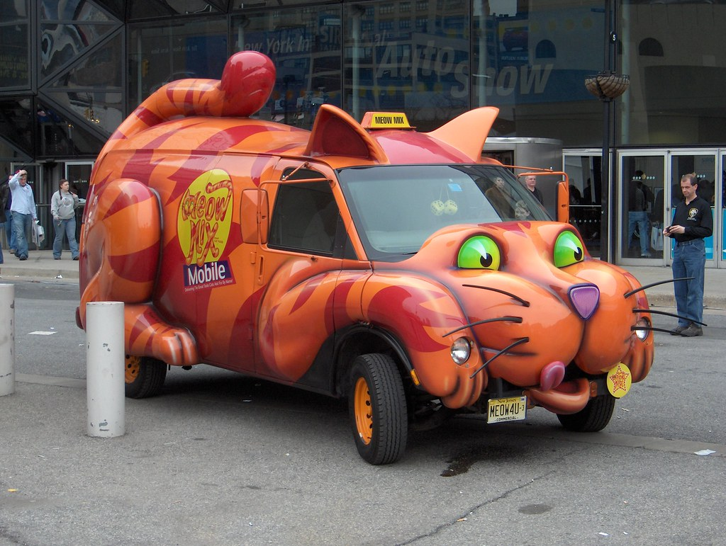 Meow Mix Mobile | Ugly car, but it does get me humming the M… | Flickr