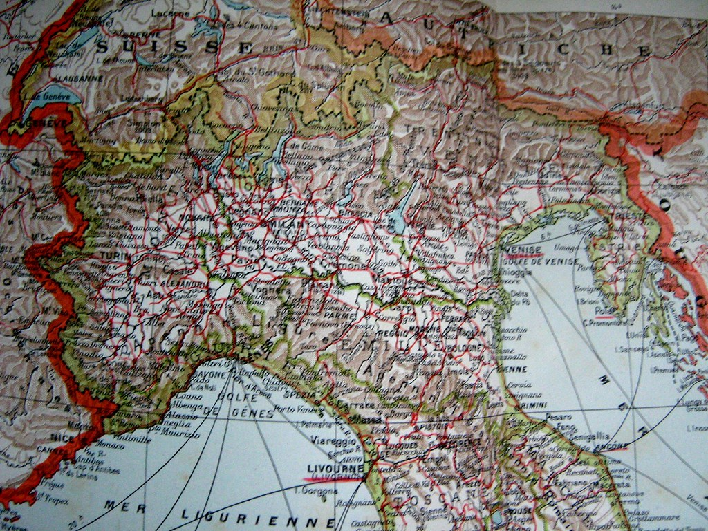Northern Italy 1925 Notice The Istrian Peninsula Which U Flickr