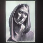 フードをかぶった女性・Hooded woman / Finish