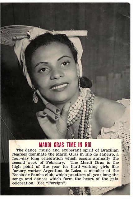 Mardi Gras Time in Rio with Argentina de Loiza - Jet Magazine, February 14, 1952