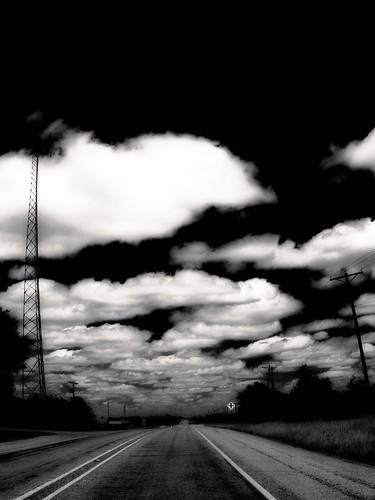sky blackandwhite bw highway texas olympus e410 huntcountytx gtowneric