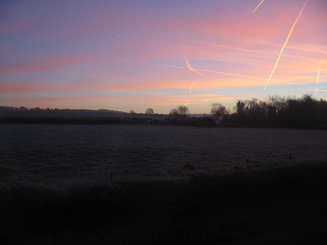 Sunrise at Winterbourne Monkton