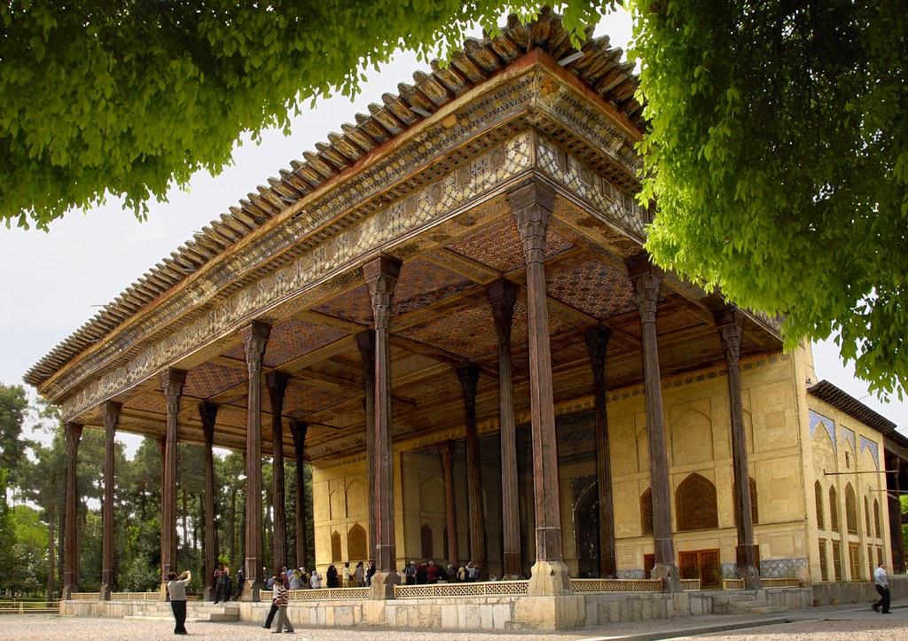 Iran Esfahan Chehel Sotun Dsc7199 View Of Chehel Sotun