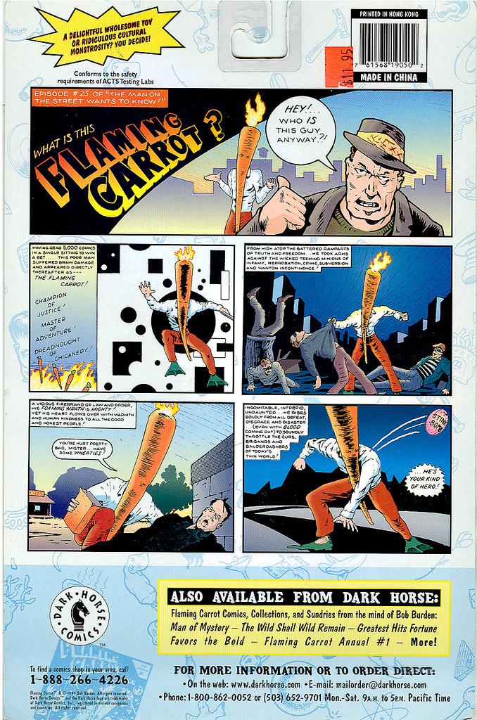 "DARK HORSE COMICS::   ""Flaming Carrot"" Action Figure ..card back ii (( 1999 )) by tOkKa"